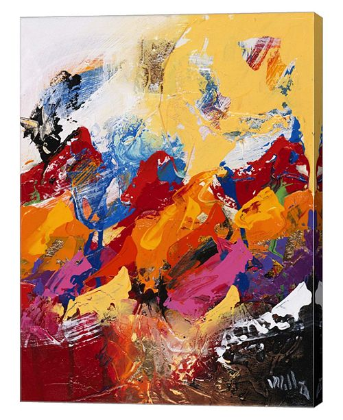 "Metaverse Explosion of Colors 1 by William Malucu Canvas Art, 26.75"" x 36"""