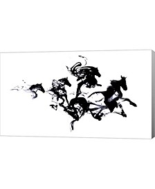 "Black Horses by Robert Farkas Canvas Art, 27"" x 16"""