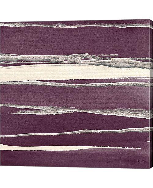 "Metaverse Silver Rose II Purple by Chris Paschke Canvas Art, 27.5"" x 28"""