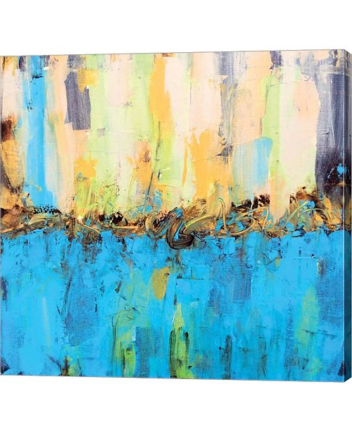 "Metaverse Bright Day by Leslie Saeta Canvas Art, 25"" x 24"""