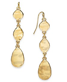 Hammered Triple Drop Earrings, Created For Macy's