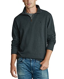 Men's Stand-Collar Quarter-Zip Pullover