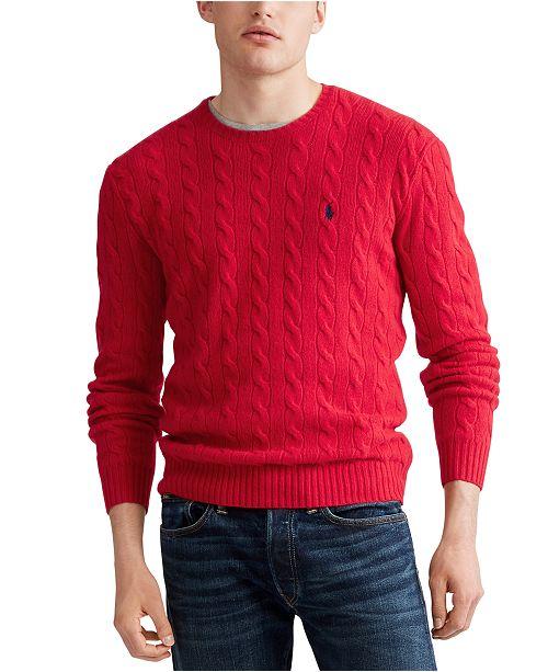 Polo Ralph Lauren Men's Cable Knit Cashmere Sweater