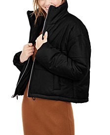 Juniors' Cropped Puffer Coat
