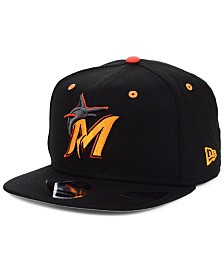 New Era Miami Marlins Orange Pop 9FIFTY Cap