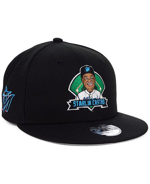 New Era Big Boys Starlin Castro Miami Marlins Lil Player 9FIFTY Snapback Cap