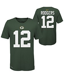 Nike Big Boys Aaron Rodgers Green Bay Packers Pride Name and Number T-Shirt