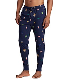Men's All-Over Pony Player Pajama Joggers