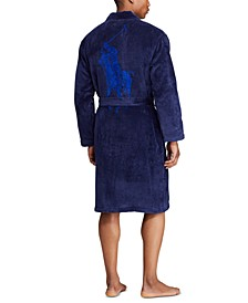 Men's Pony Velour Bathrobe
