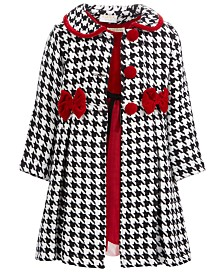 Blueberi Boulevard Little Girls 2-Pc. Velvet Dress & Houndstooth Jacket Set