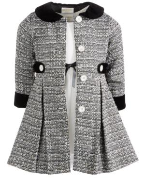 50s Girl Costumes, 50s Girl's Dresses Blueberi Boulevard Little Girls 2-Pc. Classic Ribbon Dress  Tweed Jacket Set $36.99 AT vintagedancer.com