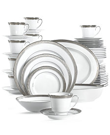 Noritake Crestwood Platinum 50-Pc. Set, Service for 8