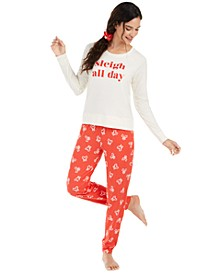 Printed Pajamas & Hair Scrunchie 3pc Set, Created for Macy's