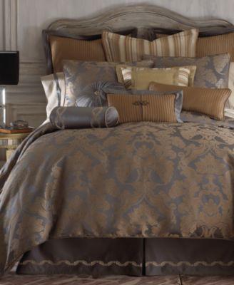 CLOSEOUT! Reversible Walton Queen 4-Pc. Comforter Set