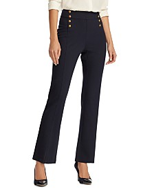 Lauren Ralph Lauren Button-Trim Ponte Sailor Pants