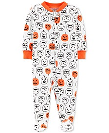 Baby Boys & Girls Pumpkin-Print Footed Cotton Coverall