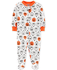 Carter's Baby Boys & Girls Pumpkin-Print Footed Cotton Coverall