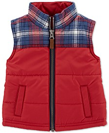 Carter's Baby Boys Plaid Zip-Up Vest