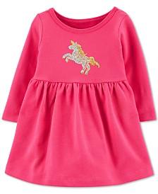Carter's Baby Girls Cotton Sequined Unicorn Dress