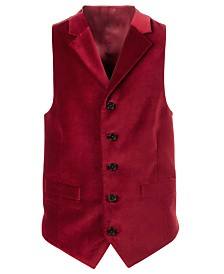 Lauren Ralph Lauren Big Boys Classic-Fit Red Velvet Vest