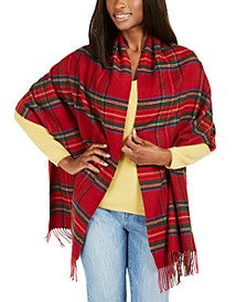 Recycled Tartan Wrap, Created for Macy's