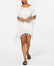 Roxy Juniors' Make Your Soul Tasseled Poncho Cover-Up