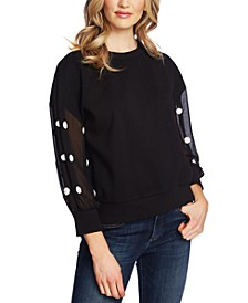 Polka-Dot Sleeve Top