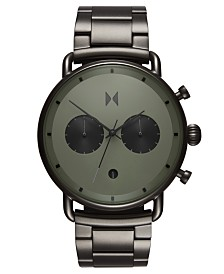MVMT Chronograph Blacktop Rallye Green Gunmetal Stainless Steel Bracelet Watch 47mm
