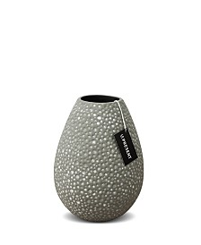 Drop Wide Ceramic Vase 8.6""