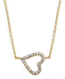 Diamond Sideways Heart Pendant Necklace in (1/6 ct. t.w.)