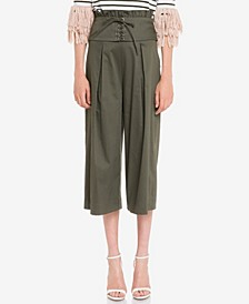 Pleated Pants with Corset