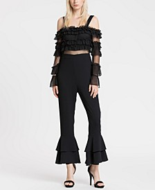 Mesh and Ruffle Jumpsuit