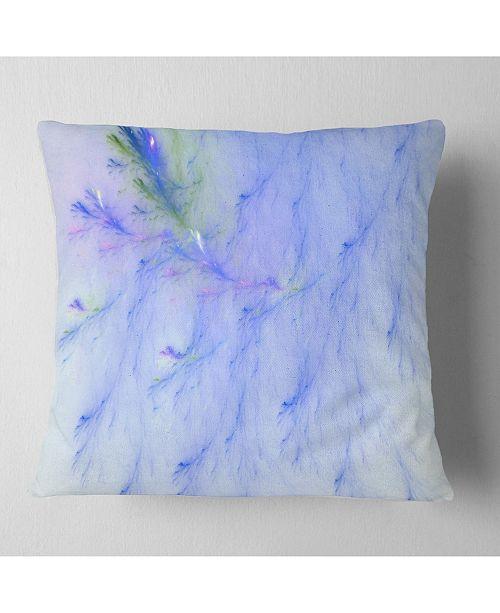 """Design Art Designart Light Blue Veins Of Marble Abstract Throw Pillow - 16"""" X 16"""""""