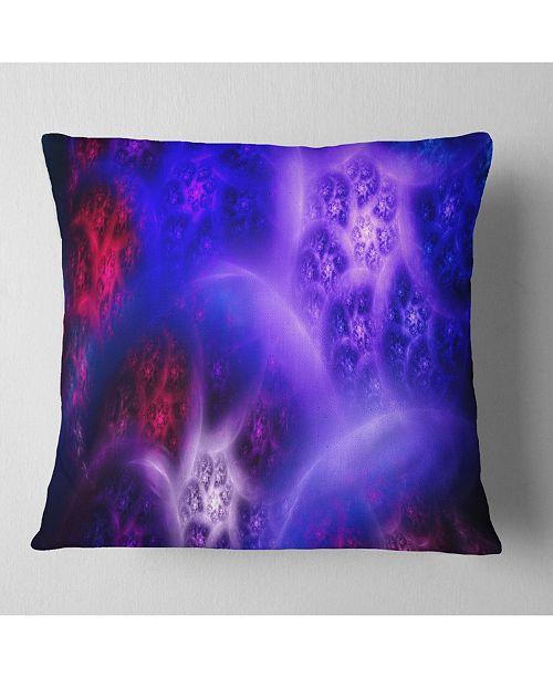 "Design Art Designart Bright Blue Magic Stormy Sky Abstract Throw Pillow - 18"" X 18"""