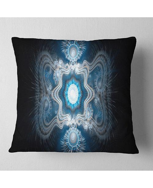 "Design Art Designart Cabalistic Clear Blue Texture Abstract Throw Pillow - 18"" X 18"""