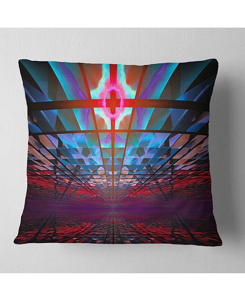 "Design Art Designart Blue Cosmic Horizons Apocalypse Abstract Throw Pillow - 16"" X 16"""