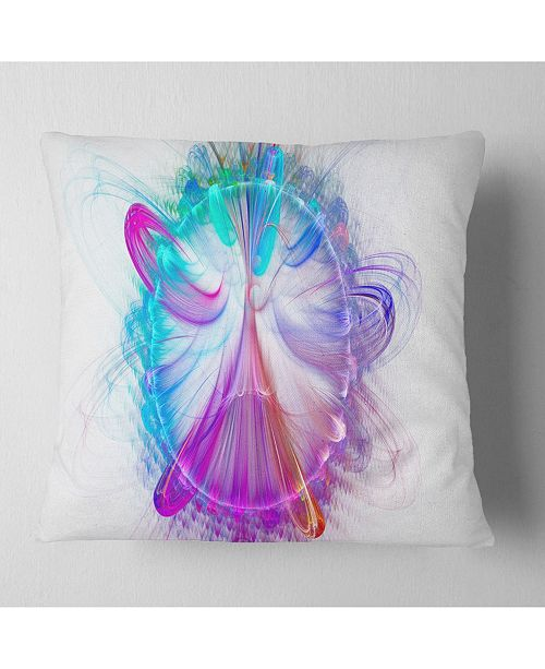 "Design Art Designart Vortices Of Energy Fractal Pattern Abstract Throw Pillow - 18"" X 18"""