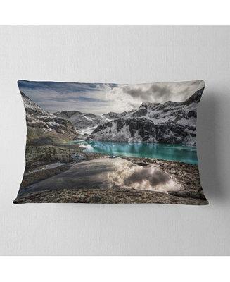Design Art Designart Mountain Creek Under Cloudy Sky Landscape Printed Throw Pillow 12 X 20 Reviews Decorative Throw Pillows Bed Bath Macy S