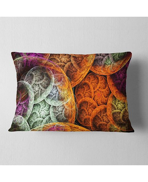 """Design Art Designart Multi Color Dramatic Clouds Abstract Throw Pillow - 12"""" X 20"""""""