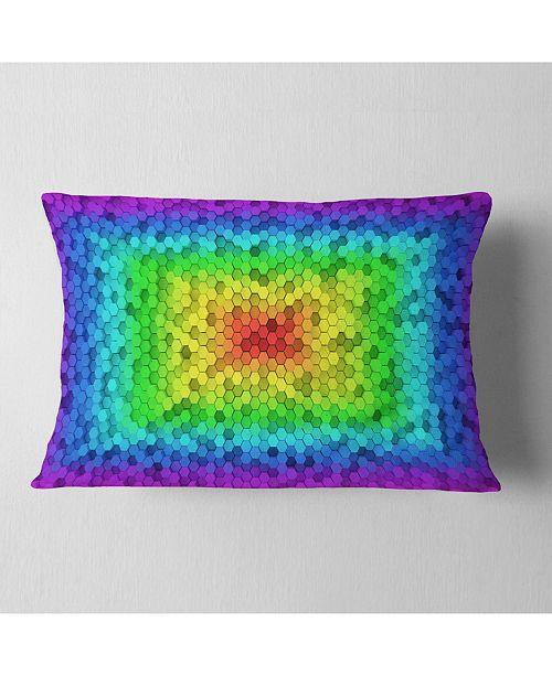 "Design Art Designart Random Elevated Hexagon Columns Abstract Throw Pillow - 12"" X 20"""