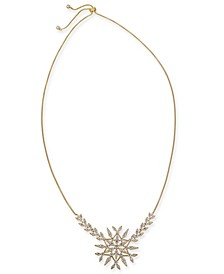 """Crystal Snowflake 30"""" Pendant Necklace, Created For Macy's"""