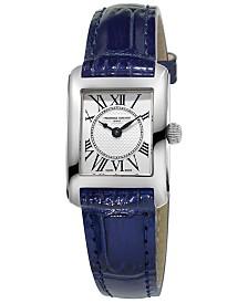 Frederique Constant Women's Swiss Classics Carrée Blue Leather Strap Watch 23x21mm