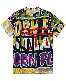 Born Fly Men's Slim-Fit Graffiti T-Shirt