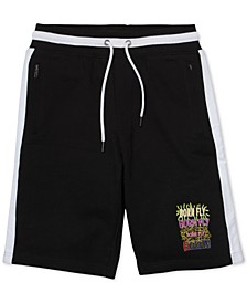 "Men's Big & Tall Colorblocked Graffiti 13"" Shorts"