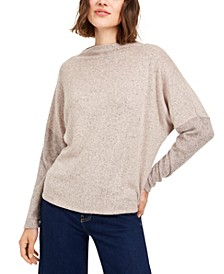 Juniors' Cozy Funnel Neck Top