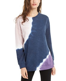 Ultra Flirt Juniors' Tie-Dye Tunic Sweatshirt