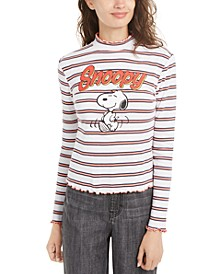 Juniors' Snoopy Mock-Neck Top