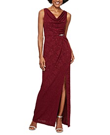 Petite Jacquard Column Gown