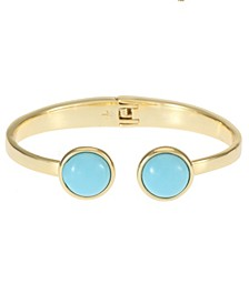 14K Gold-Plated Hinged Cuff Bracelet