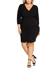 City Chic Trendy Plus Size Ruched Dress